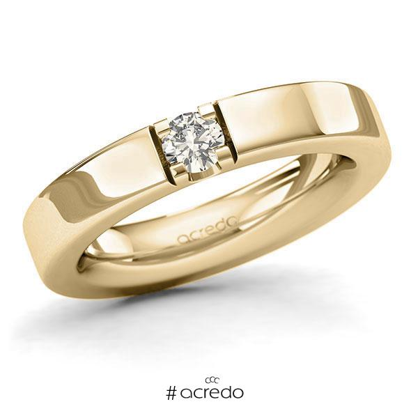 Memoire/Diamantring in Gelbgold 585 mit zus. 0,25 ct. Brillant tw, si von acredo