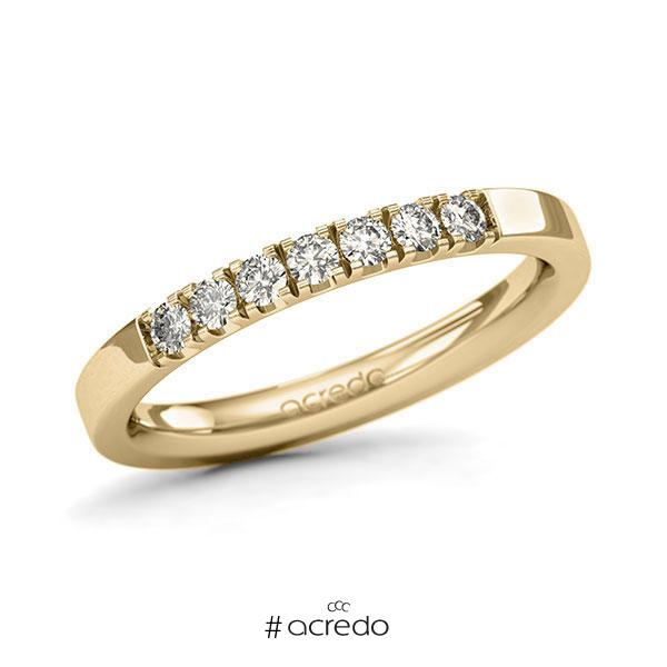 Memoire/Diamantring in Gelbgold 585 mit zus. 0,28 ct. Brillant tw, si von acredo