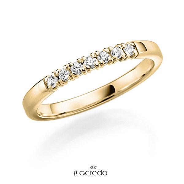 Memoire/Diamantring in Gelbgold 585 mit zus. 0,28 ct. Brillant tw, vs von acredo