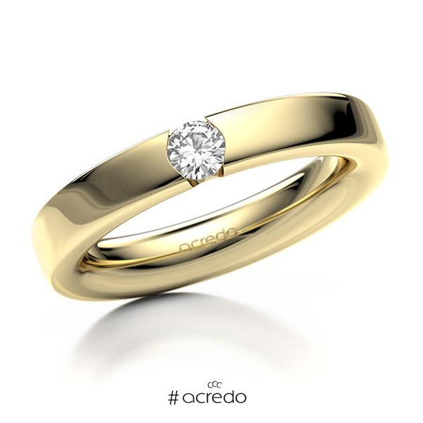 Memoire/Diamantring in Gelbgold 585 mit zus. 0,2 ct. Brillant tw, si von acredo