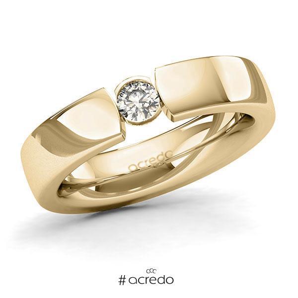 Memoire/Diamantring in Gelbgold 585 mit zus. 0,2 ct. Brillant tw, si von acredo