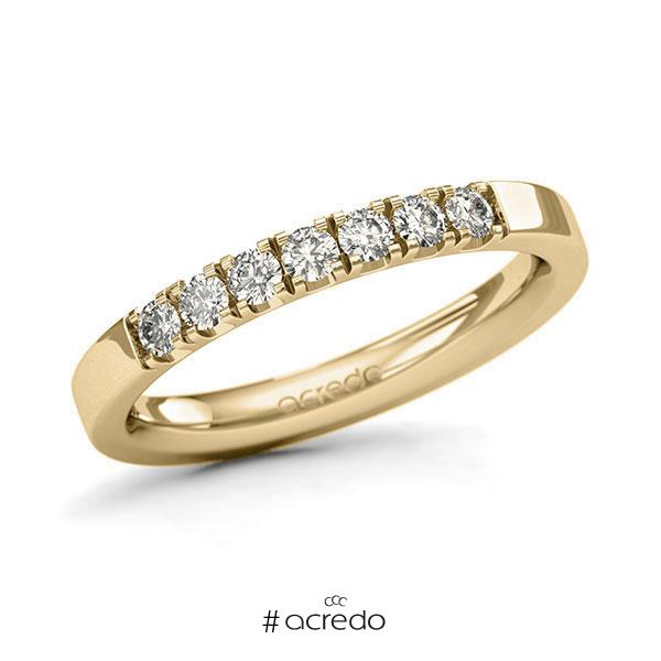 Memoire/Diamantring in Gelbgold 585 mit zus. 0,35 ct. Brillant tw, si von acredo
