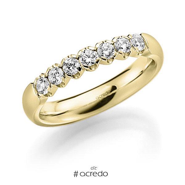 Memoire/Diamantring in Gelbgold 585 mit zus. 0,35 ct. Brillant tw, vs von acredo