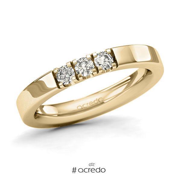 Memoire/Diamantring in Gelbgold 585 mit zus. 0,3 ct. Brillant tw, si von acredo