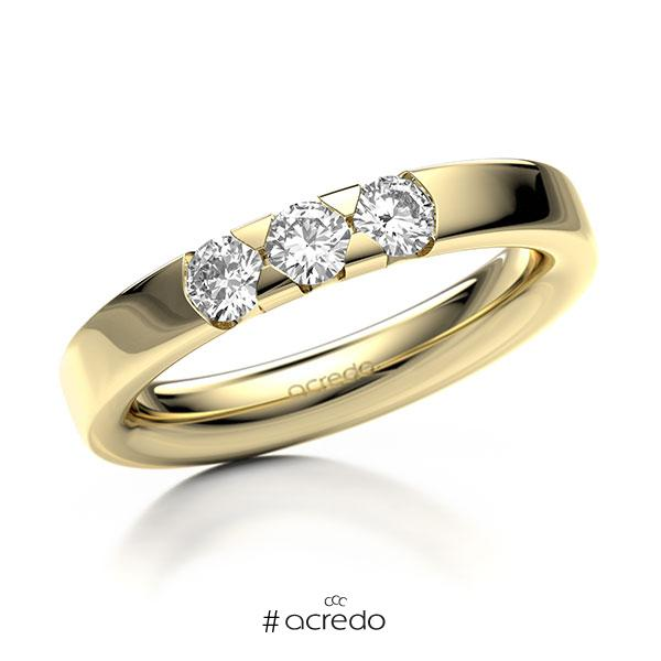 Memoire/Diamantring in Gelbgold 585 mit zus. 0,45 ct. Brillant tw, si von acredo
