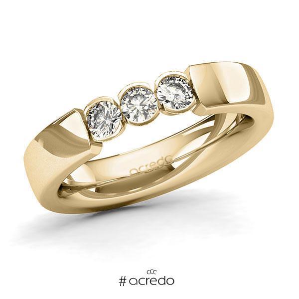 Memoire/Diamantring in Gelbgold 585 mit zus. 0,45 ct. Brillant tw, si von acredo