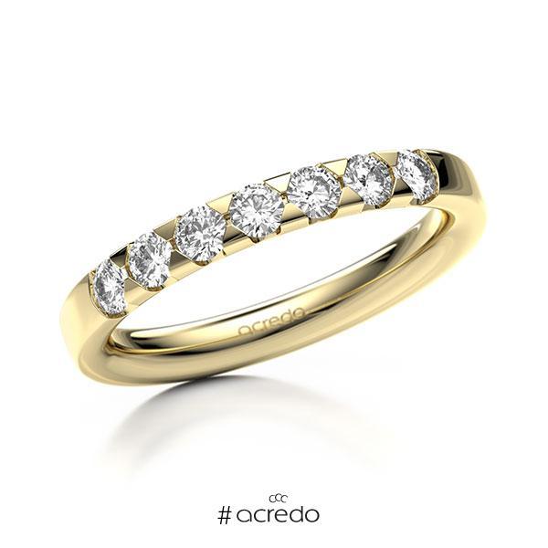 Memoire/Diamantring in Gelbgold 585 mit zus. 0,49 ct. Brillant tw, si von acredo