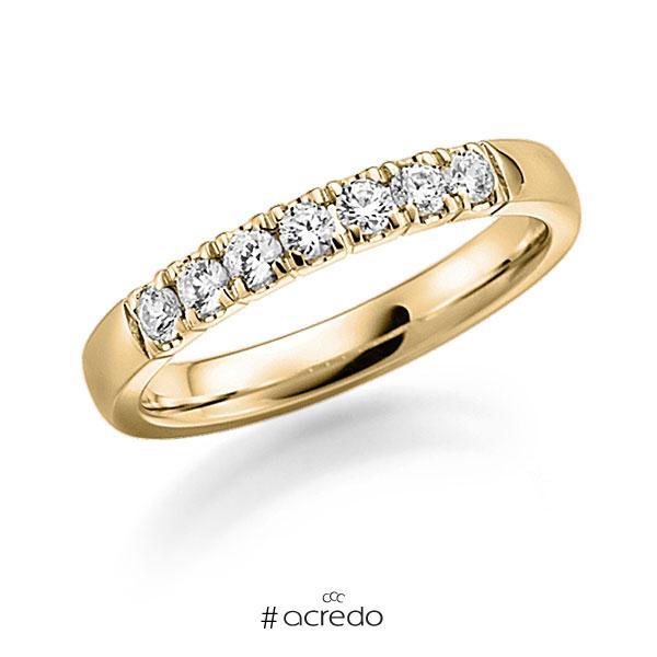 Memoire/Diamantring in Gelbgold 585 mit zus. 0,49 ct. Brillant tw, vs von acredo