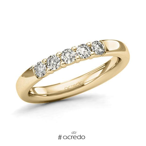 Memoire/Diamantring in Gelbgold 585 mit zus. 0,4 ct. Brillant tw, si von acredo