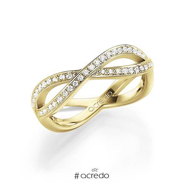 Memoire/Diamantring in Gelbgold 585 mit zus. 0,53 ct. tw, vs von acredo