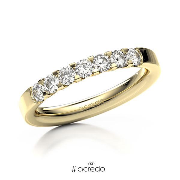 Memoire/Diamantring in Gelbgold 585 mit zus. 0,56 ct. Brillant tw, vs von acredo