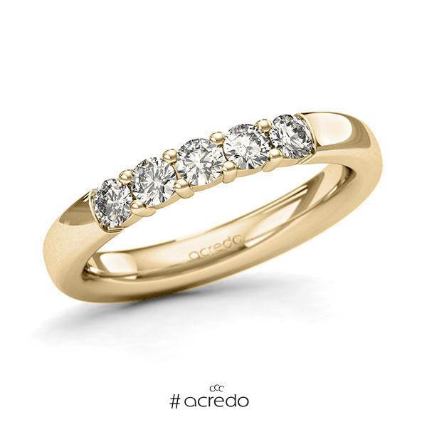 Memoire/Diamantring in Gelbgold 585 mit zus. 0,5 ct. Brillant tw, si von acredo