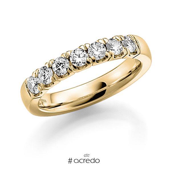 Memoire/Diamantring in Gelbgold 585 mit zus. 0,63 ct. Brillant tw, vs von acredo