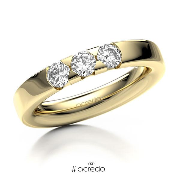 Memoire/Diamantring in Gelbgold 585 mit zus. 0,6 ct. Brillant tw, si von acredo
