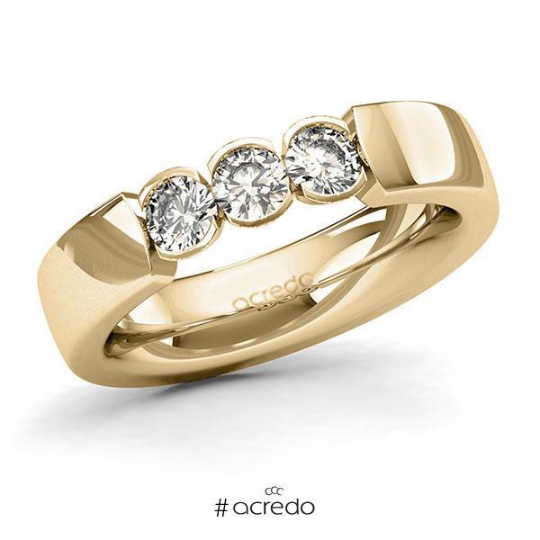 Memoire/Diamantring in Gelbgold 585 mit zus. 0,6 ct. Brillant tw, si von acredo