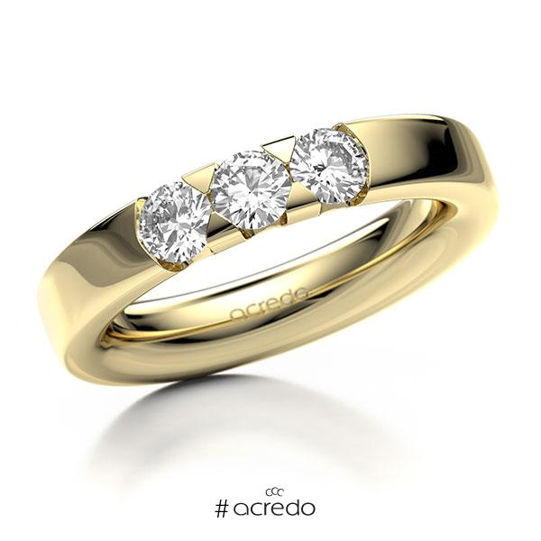 Memoire/Diamantring in Gelbgold 585 mit zus. 0,75 ct. Brillant tw, si von acredo