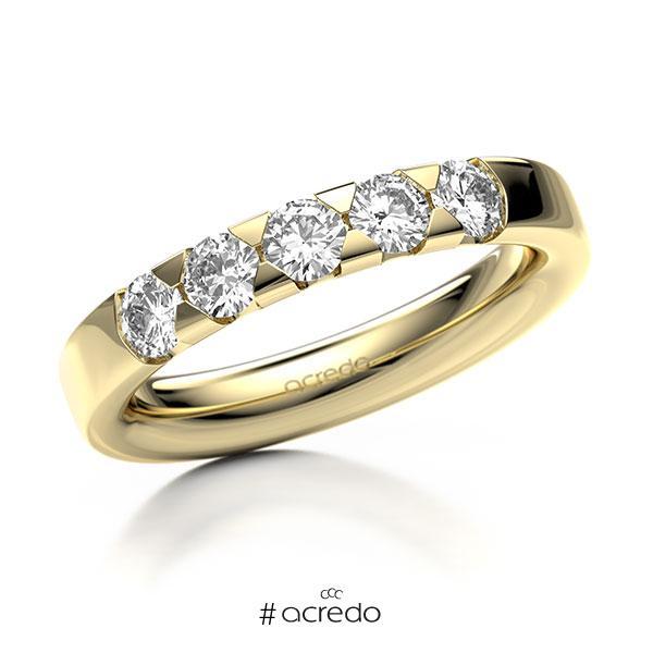Memoire/Diamantring in Gelbgold 585 mit zus. 0,75 ct. Brillant tw, si von acredo