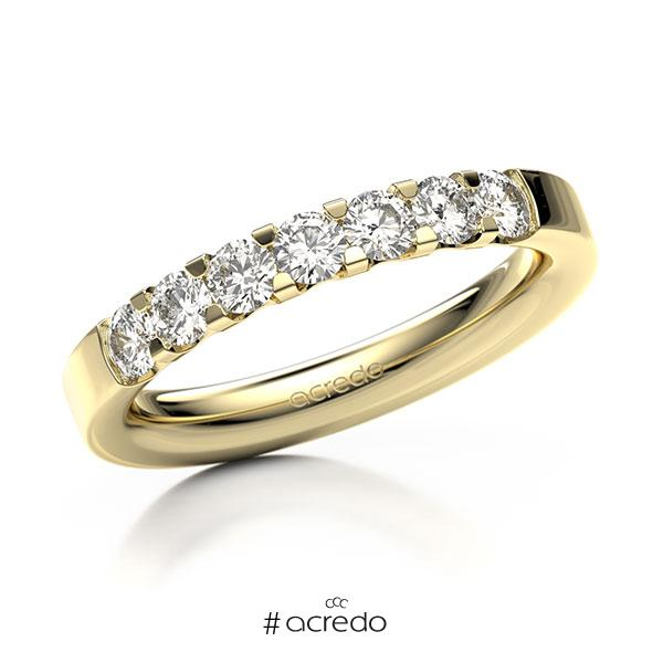 Memoire/Diamantring in Gelbgold 585 mit zus. 0,7 ct. Brillant tw, vs von acredo