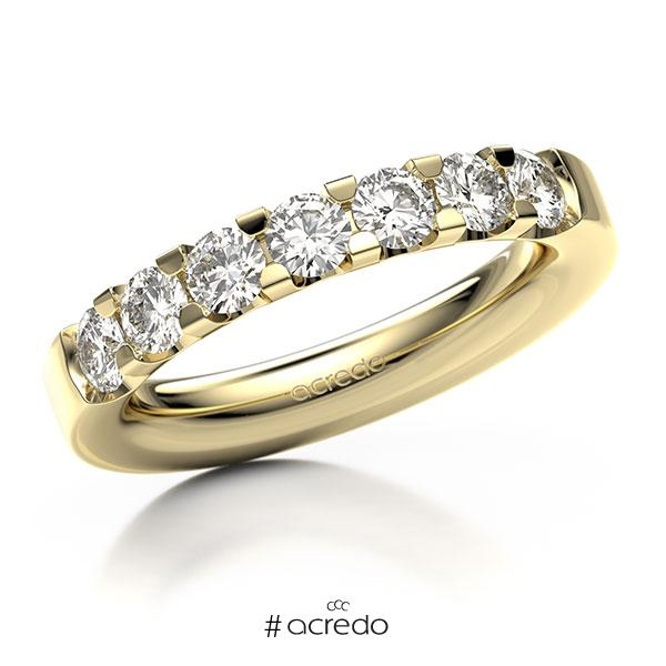 Memoire/Diamantring in Gelbgold 585 mit zus. 1,05 ct. Brillant tw, vs von acredo