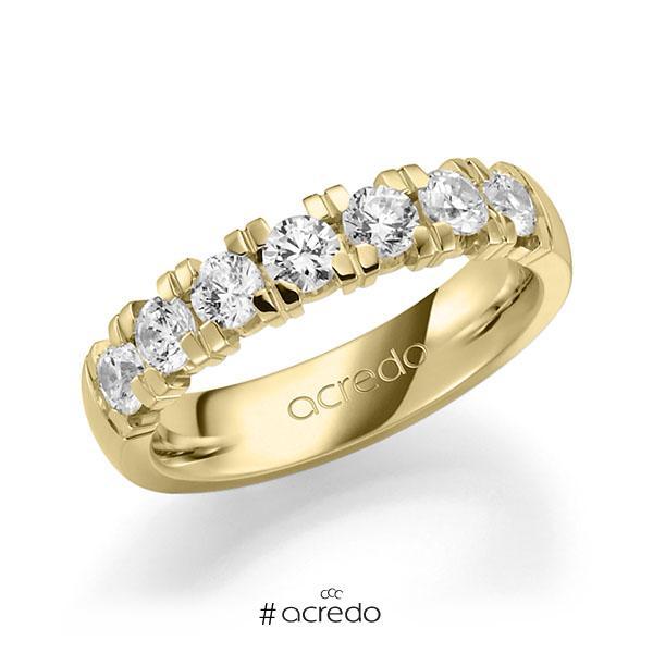 Memoire/Diamantring in Gelbgold 585 mit zus. 1,05 ct. Brillant tw, vs von acredo