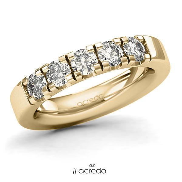 Memoire/Diamantring in Gelbgold 585 mit zus. 1,25 ct. Brillant tw, si von acredo