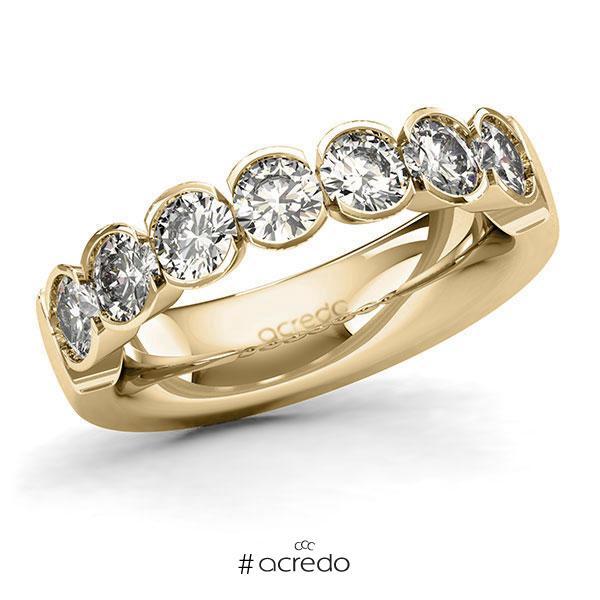 Memoire/Diamantring in Gelbgold 585 mit zus. 1,75 ct. Brillant tw, si von acredo