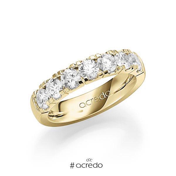 Memoire/Diamantring in Gelbgold 585 mit zus. 1,75 ct. Brillant tw, vs von acredo