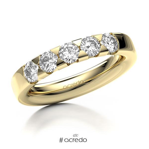 Memoire/Diamantring in Gelbgold 585 mit zus. 1 ct. Brillant tw, si von acredo
