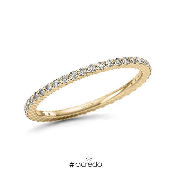 Memoire/Diamantring in Gelbgold 585 vollausgefasst mit zus. 0,42 ct. Brillant tw, si von acredo