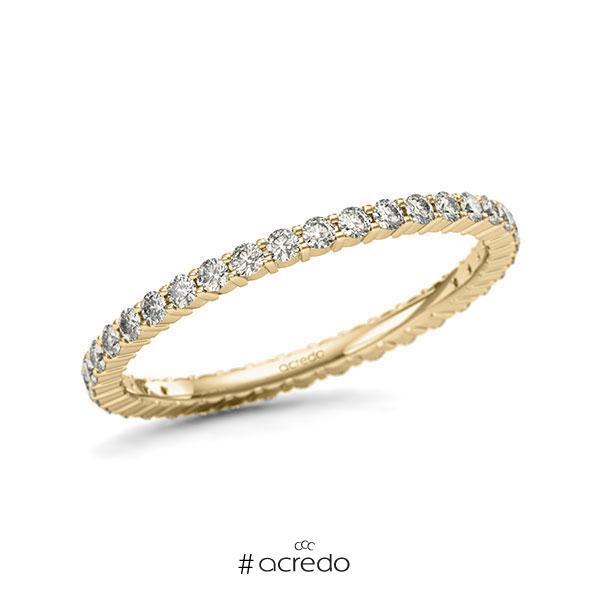 Memoire/Diamantring in Gelbgold 585 vollausgefasst mit zus. 0,555 ct. Brillant tw, si von acredo