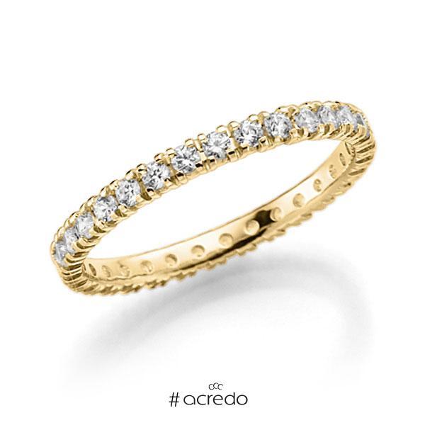 Memoire/Diamantring in Gelbgold 585 vollausgefasst mit zus. 0,62 ct. Brillant tw, vs von acredo