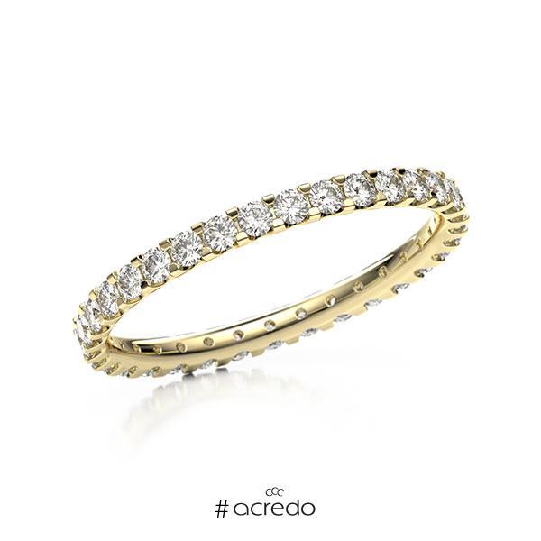 Memoire/Diamantring in Gelbgold 585 vollausgefasst mit zus. 0,66 ct. Brillant tw, vs von acredo