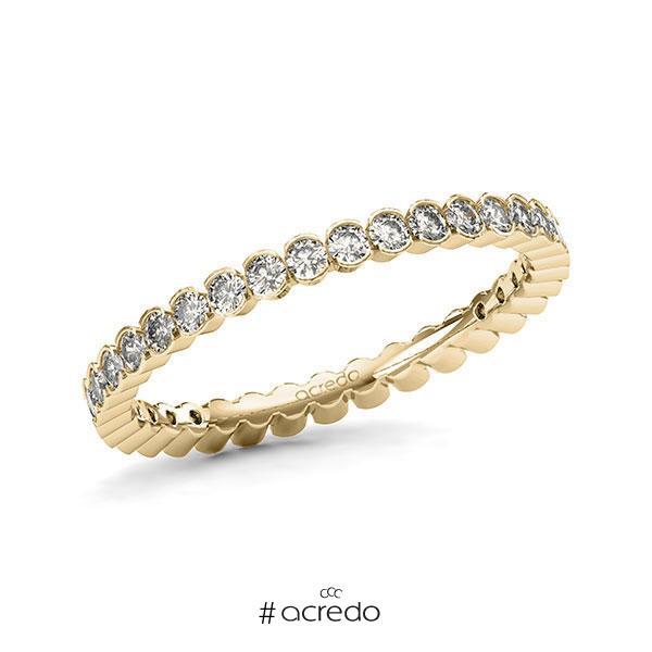 Memoire/Diamantring in Gelbgold 585 vollausgefasst mit zus. 0,74 ct. Brillant tw, si von acredo