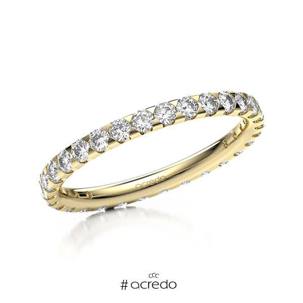 Memoire/Diamantring in Gelbgold 585 vollausgefasst mit zus. 0,9 ct. Brillant tw, si von acredo