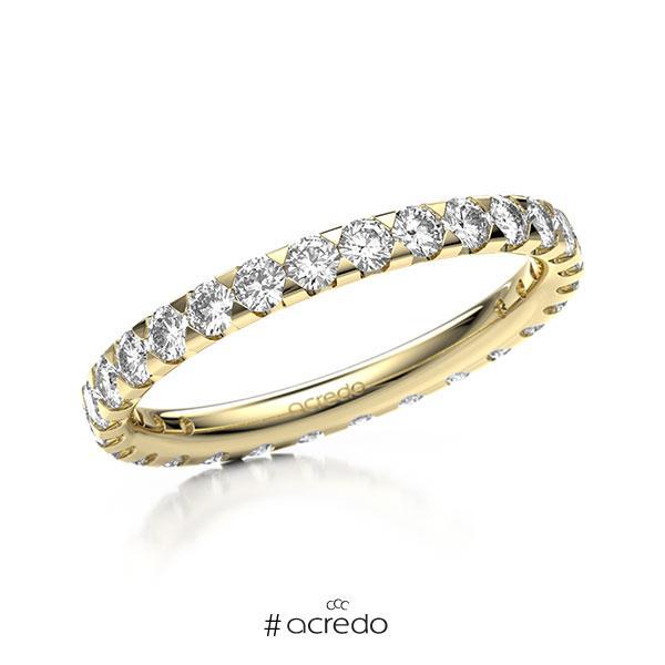 Memoire/Diamantring in Gelbgold 585 vollausgefasst mit zus. 1,12 ct. Brillant tw, si von acredo