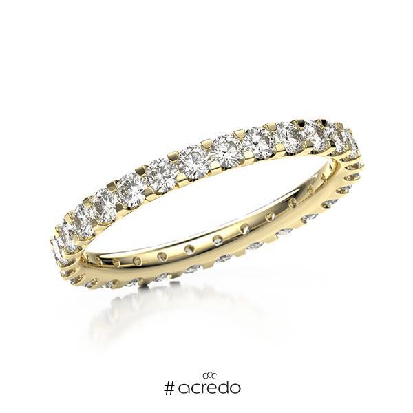 Memoire/Diamantring in Gelbgold 585 vollausgefasst mit zus. 1,12 ct. Brillant tw, vs von acredo