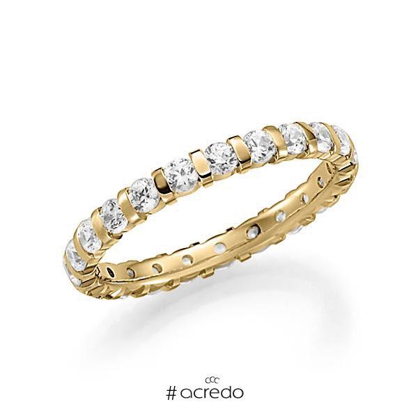 Memoire/Diamantring in Gelbgold 585 vollausgefasst mit zus. 1,15 ct. Brillant tw, vs von acredo