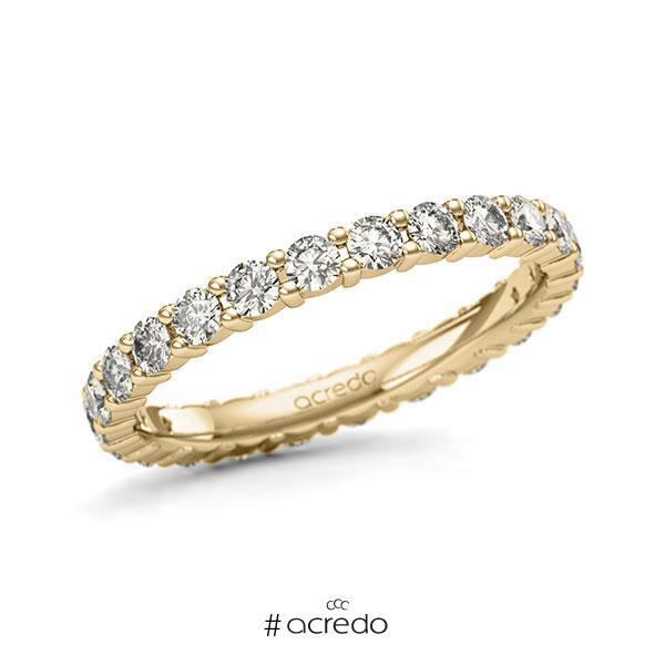 Memoire/Diamantring in Gelbgold 585 vollausgefasst mit zus. 1,2 ct. Brillant tw, si von acredo