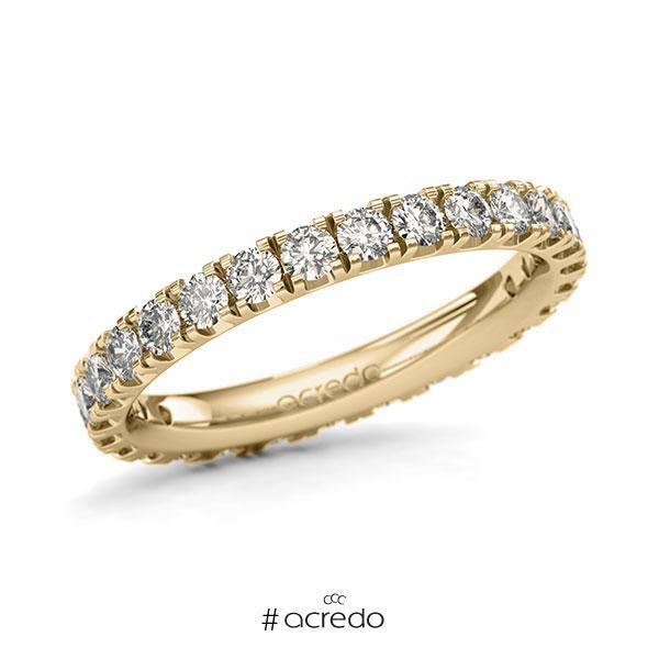 Memoire/Diamantring in Gelbgold 585 vollausgefasst mit zus. 1,35 ct. Brillant tw, si von acredo
