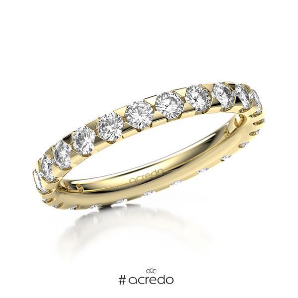 Memoire/Diamantring in Gelbgold 585 vollausgefasst mit zus. 1,38 ct. Brillant tw, si von acredo