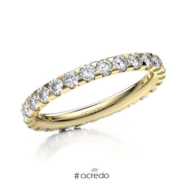 Memoire/Diamantring in Gelbgold 585 vollausgefasst mit zus. 1,3 ct. Brillant tw, si von acredo
