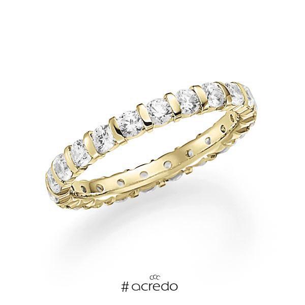 Memoire/Diamantring in Gelbgold 585 vollausgefasst mit zus. 1,54 ct. Brillant tw, vs von acredo