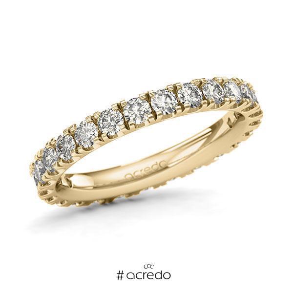 Memoire/Diamantring in Gelbgold 585 vollausgefasst mit zus. 1,5 ct. Brillant tw, si von acredo