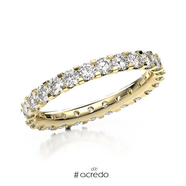 Memoire/Diamantring in Gelbgold 585 vollausgefasst mit zus. 1,5 ct. Brillant tw, vs von acredo