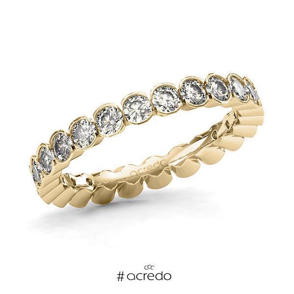 Memoire/Diamantring in Gelbgold 585 vollausgefasst mit zus. 1,68 ct. Brillant tw, si von acredo