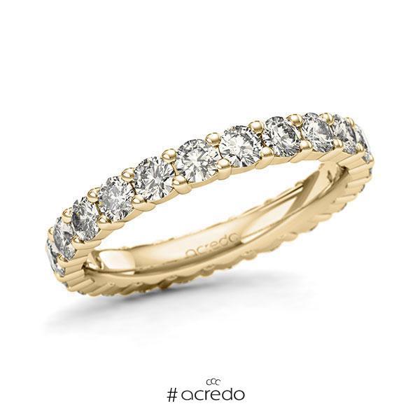 Memoire/Diamantring in Gelbgold 585 vollausgefasst mit zus. 1,76 ct. Brillant tw, si von acredo
