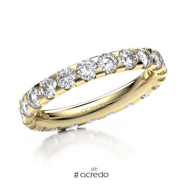 Memoire/Diamantring in Gelbgold 585 vollausgefasst mit zus. 2,1 ct. Brillant tw, si von acredo