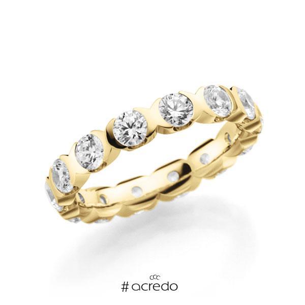 Memoire/Diamantring in Gelbgold 585 vollausgefasst mit zus. 2,1 ct. Brillant tw, vs von acredo