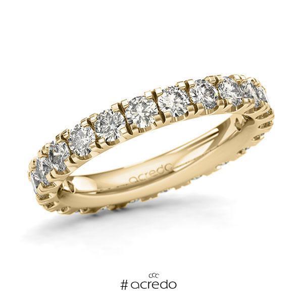 Memoire/Diamantring in Gelbgold 585 vollausgefasst mit zus. 2,2 ct. Brillant tw, si von acredo