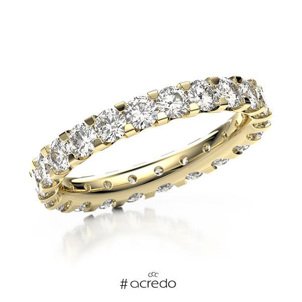 Memoire/Diamantring in Gelbgold 585 vollausgefasst mit zus. 2,2 ct. Brillant tw, vs von acredo
